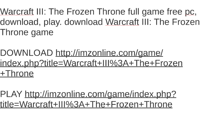 frozen throne torrent