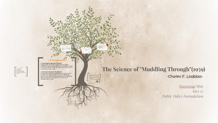 charles e lindblom the science of muddling through