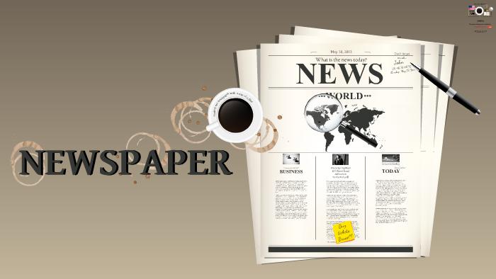 template newspaper by prezi templates prezi design. Black Bedroom Furniture Sets. Home Design Ideas