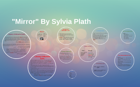 poetic devices of mirror by sylvia plath