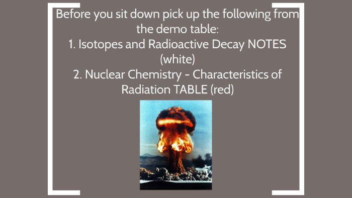 Chapter 4 - Isotopes and Radioactive Decay by Sydney Sturgeon on Prezi