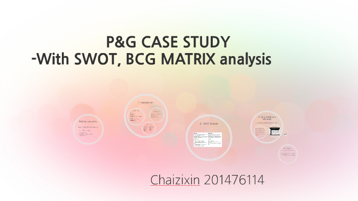 bcg matrix of p&g