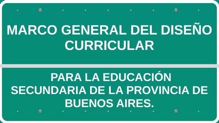 Marco General Para La Educación Secundaria Básica By