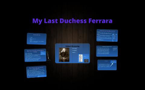 my last duchess language techniques