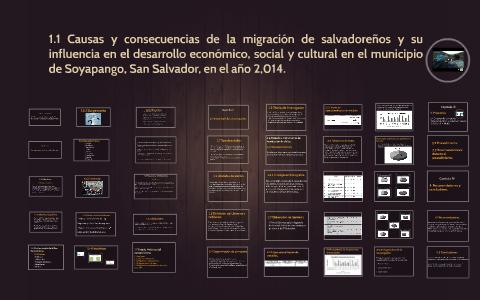 Causas Y Consecuencias De La Migracion De Salvadorenos Y Su By Kevin