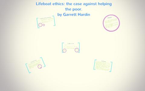 garrett hardin lifeboat ethics summary