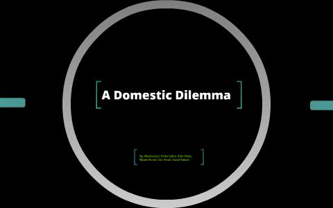 domestic dilemma short story