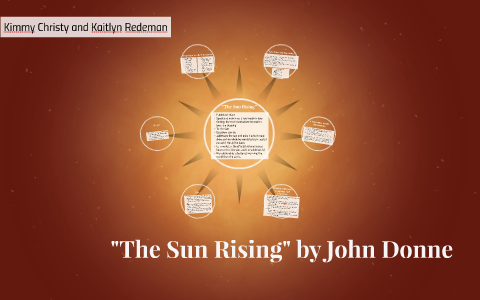 the sun rising john donne literary devices
