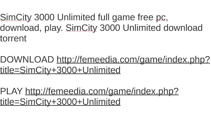 simcity 3000 download ita