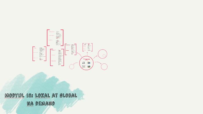 Modyul 15: Lokal at Global na Demand by Samantha Almoite on