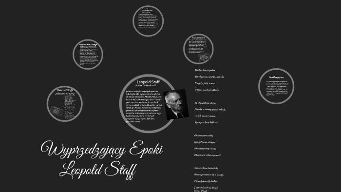 Leopold Staff Pogląd Na życie I Jego Twórczość By Bartek