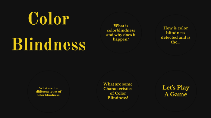 characteristics of color blindness