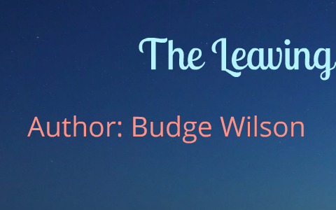 the metaphor by budge wilson short story