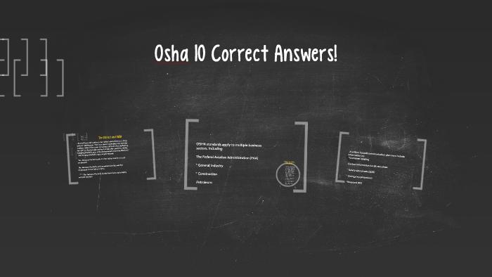 Osha 10 Test Answers 2019