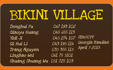 Groupe bikini village inc