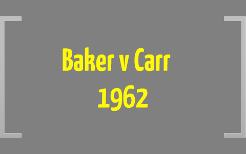 baker v carr 1962