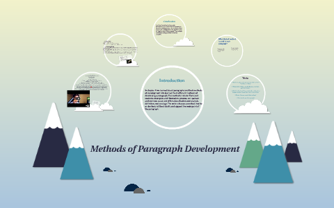 paragraph development by narration example