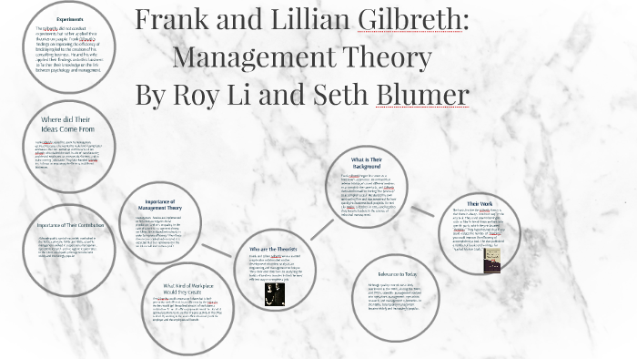 contribution of frank and lillian gilbreth