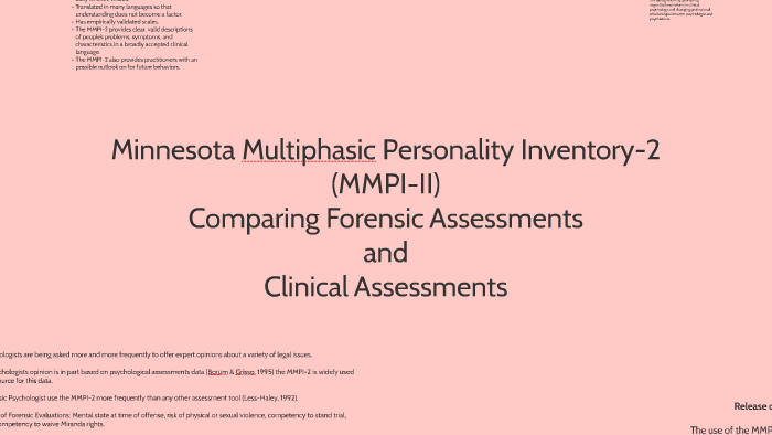 using the mmpi2 in forensic assessment