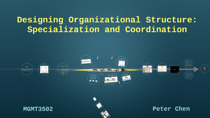 designing organizational structure specialization and coordination