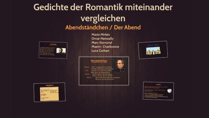 Gedichte Der Romantik Miteinander Vergleichen By Marc