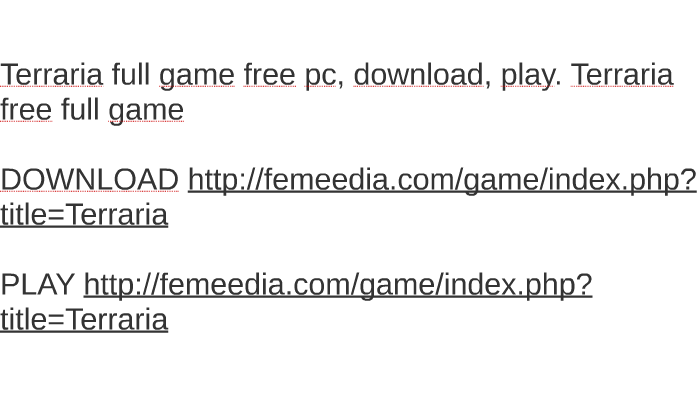 terraria free download full game