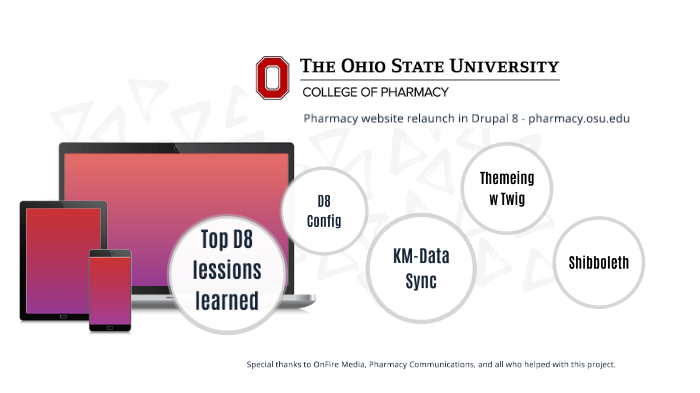 College of Pharmacy Drupal 8 site relaunch by Jon Gladden on