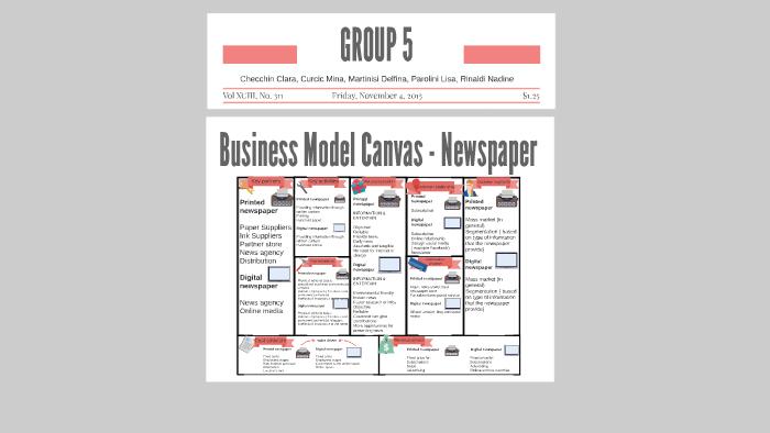 BUSINESS MODEL CANVAS NEWSPAPER by Nadine Rinaldi on Prezi