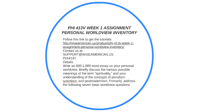 personal worldview inventory essay