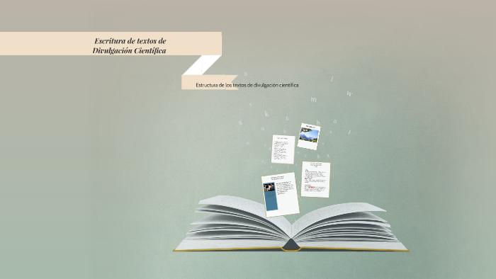Escritura De Textos De Divulgación Científica By Lourdes