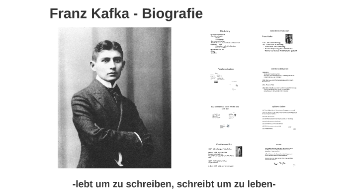 Franz Kafka Biografie By Alina Haase On Prezi