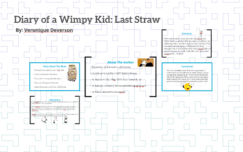 Diary Of A Wimpy Kid Last Straw By Veronique Deverson