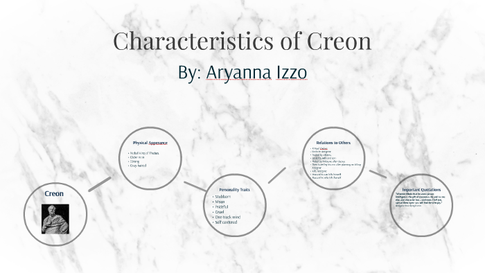 Characteristics Of Creon By Aryanna Izzo