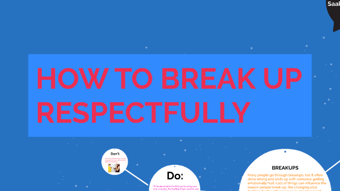 HOW TO BREAK UP RESPECTFULLY by Naomi G on Prezi