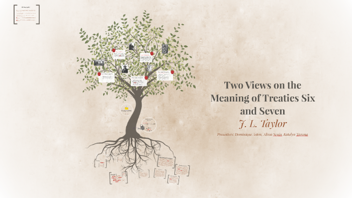 Two Views on the Meaning of Treaties Six and Seven by Kate Y