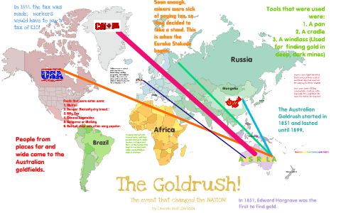 Map Of Australia Gold Rush.The Goldrush Map By Laurah Tapas On Prezi