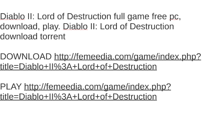 torrent diablo 2 lord of destruction
