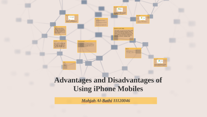 Advantages and disadvantages of using iPhone Mobiles by Mohjah SB on