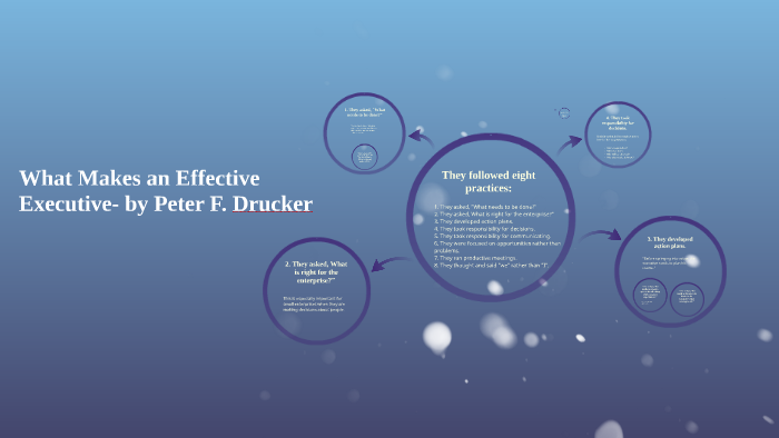 What Makes An Effective Executive By Peter F Drucker By Zeke