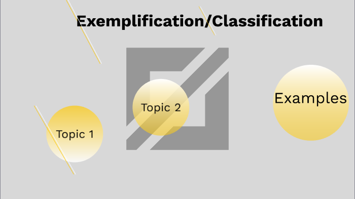 exemplification classification