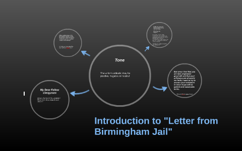 what is the tone of letter from birmingham jail