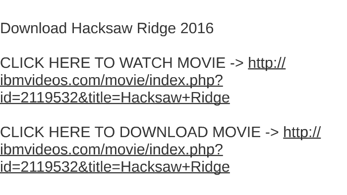 Hacksaw ridge movie download