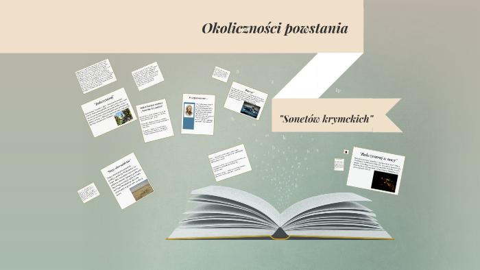 Okoliczności Powstania Sonetów Krymckich By Ikuzo Ikuzo On