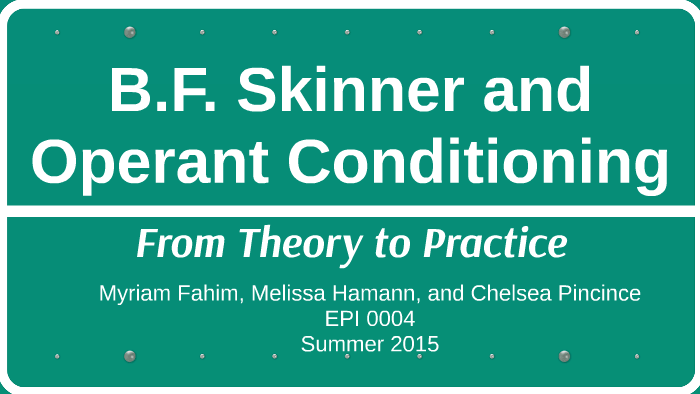 bf skinner reinforcement theory of motivation pdf