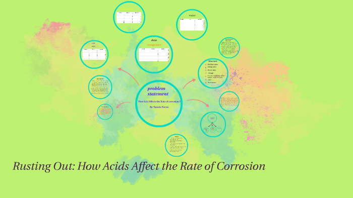 how acids affect the rate of corrosion science fair project