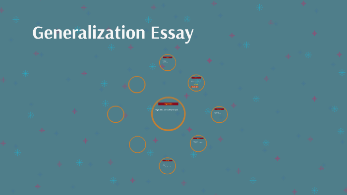 generalization essay