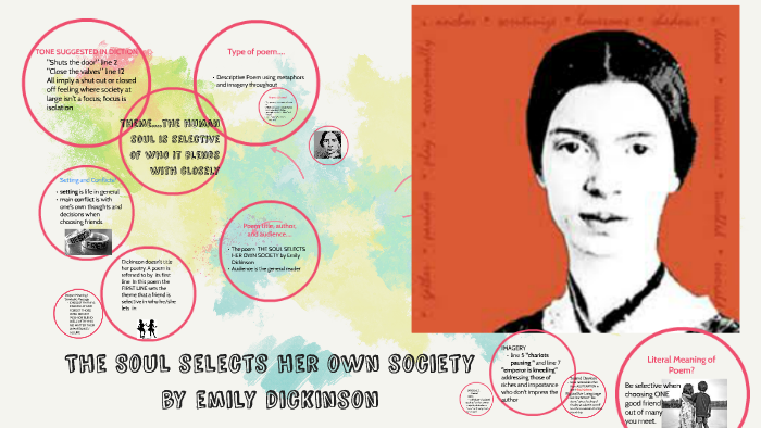 the soul selects her own society emily dickinson analysis