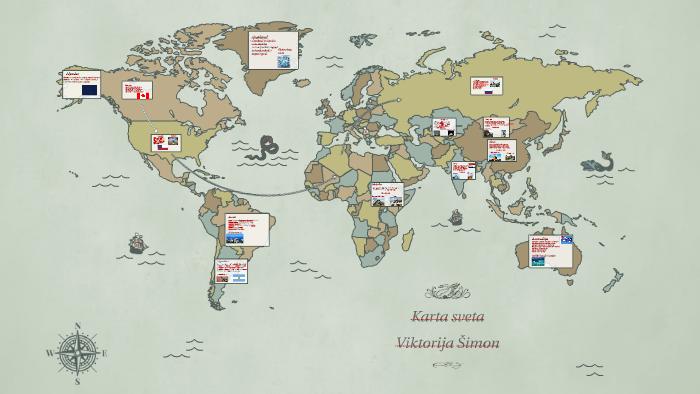 Kanada Karta Svijeta.Mapa Sveta By Viktorija Simon On Prezi