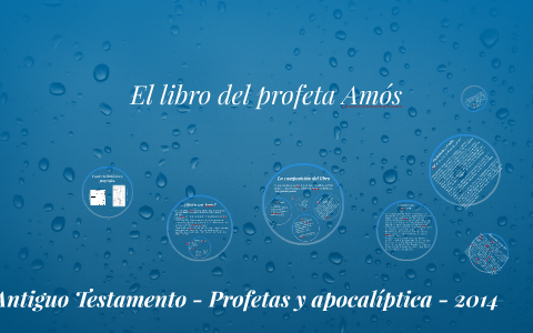Profeta On By Farrando Del Federico Ridissi Libro Prezi El Amós OuZkTPXi