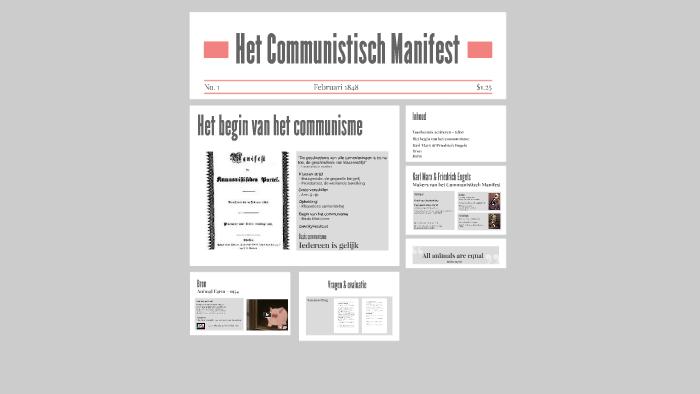 Het Communistisch Manifest By Sigrid Meij On Prezi